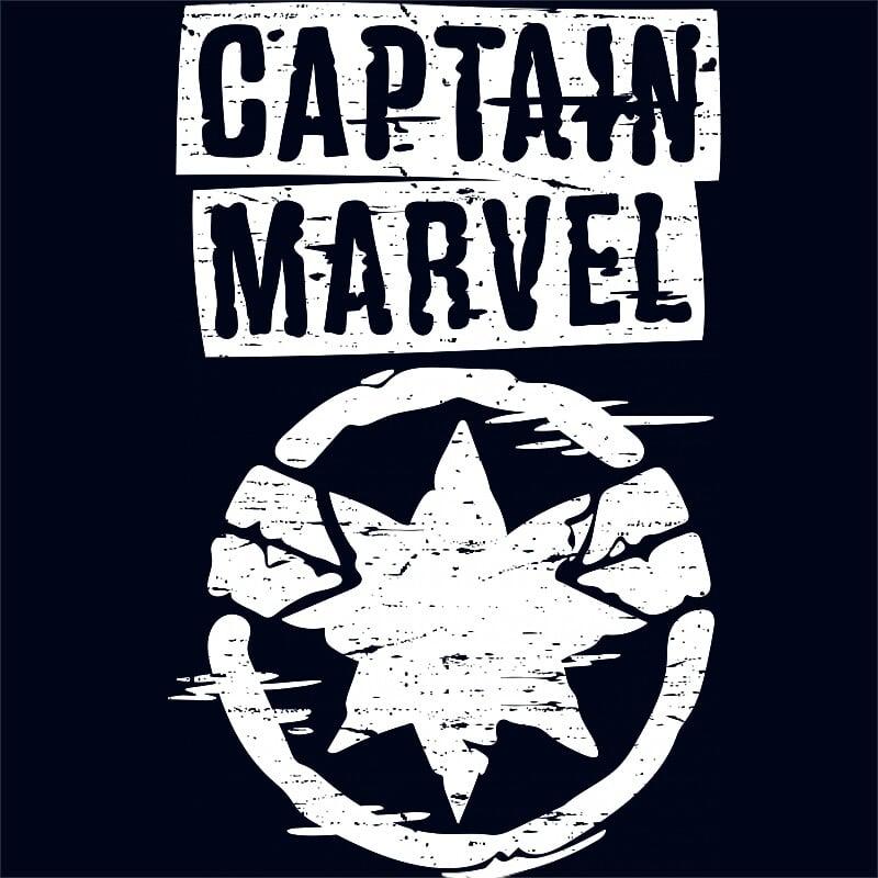 Captain Marvel grunge logo Póló - Ha Captain Marvel rajongó ezeket a pólókat tuti imádni fogod!