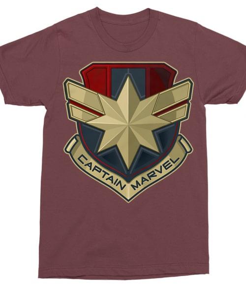 Captain Marvel logo Póló - Ha Captain Marvel rajongó ezeket a pólókat tuti imádni fogod!