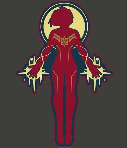 Captain Marvel red and yellow Póló - Ha Captain Marvel rajongó ezeket a pólókat tuti imádni fogod!