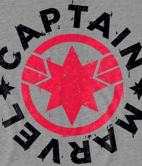 Captain Marvel simple logo Póló - Ha Captain Marvel rajongó ezeket a pólókat tuti imádni fogod!