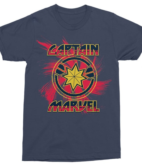 Captain Marvel swirl Póló - Ha Captain Marvel rajongó ezeket a pólókat tuti imádni fogod!