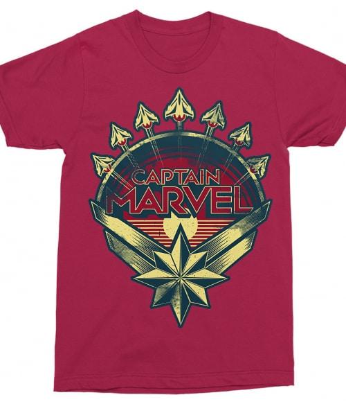 Captain Marvel text logo Póló - Ha Captain Marvel rajongó ezeket a pólókat tuti imádni fogod!