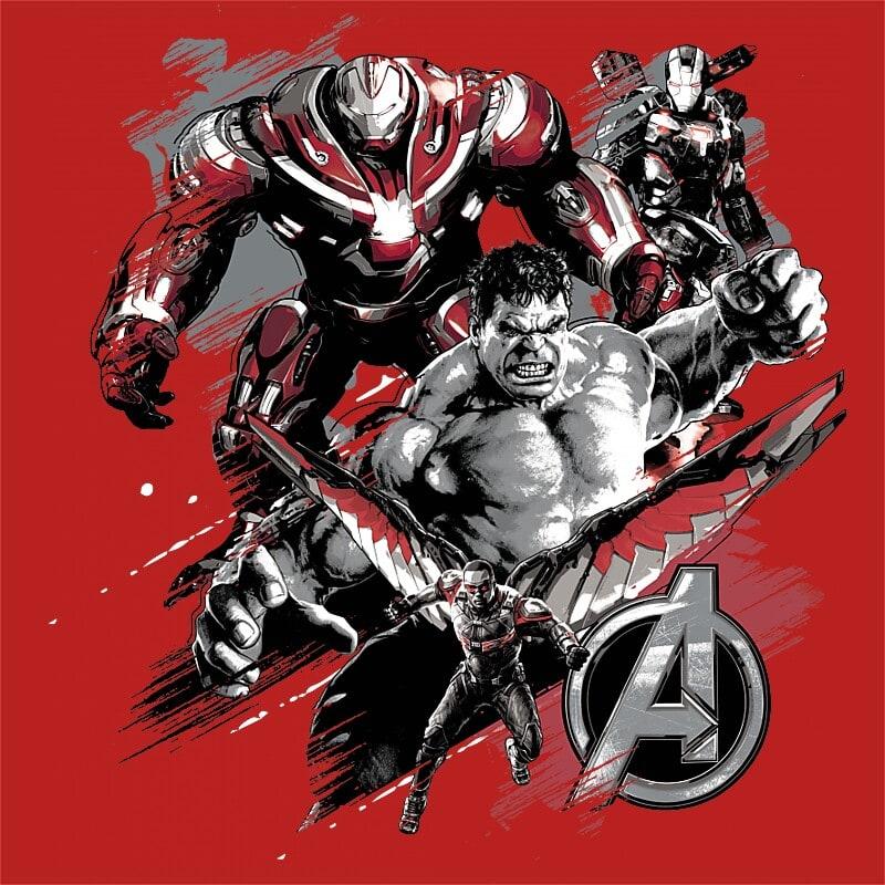 Avengers Team Grunge Póló - Ha Avengers rajongó ezeket a pólókat tuti imádni fogod!
