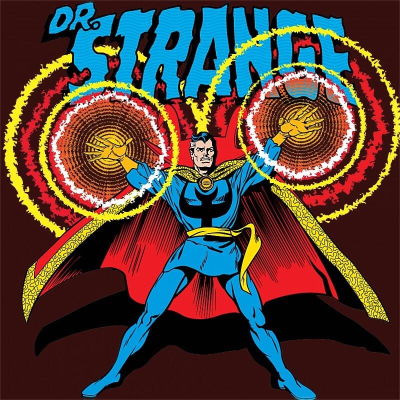 Doctor Strange retro Póló - Ha Dr Strange rajongó ezeket a pólókat tuti imádni fogod!
