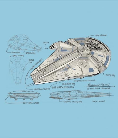 Falcon project Póló - Ha Star Wars rajongó ezeket a pólókat tuti imádni fogod!