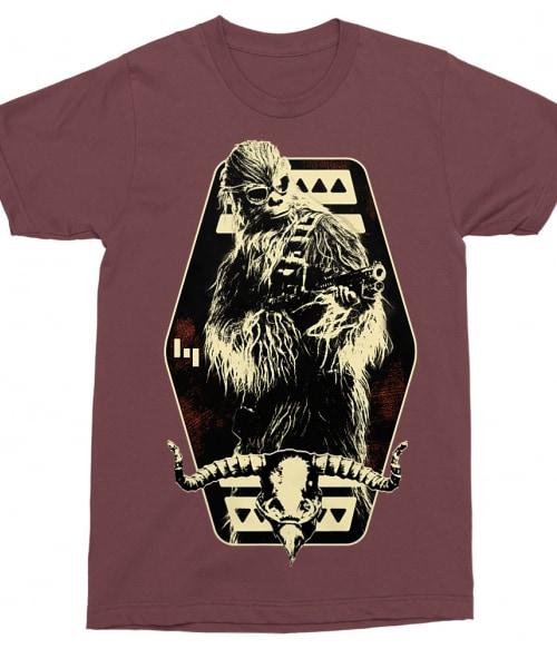 Retro Chewbacca badge Póló - Ha Star Wars rajongó ezeket a pólókat tuti imádni fogod!