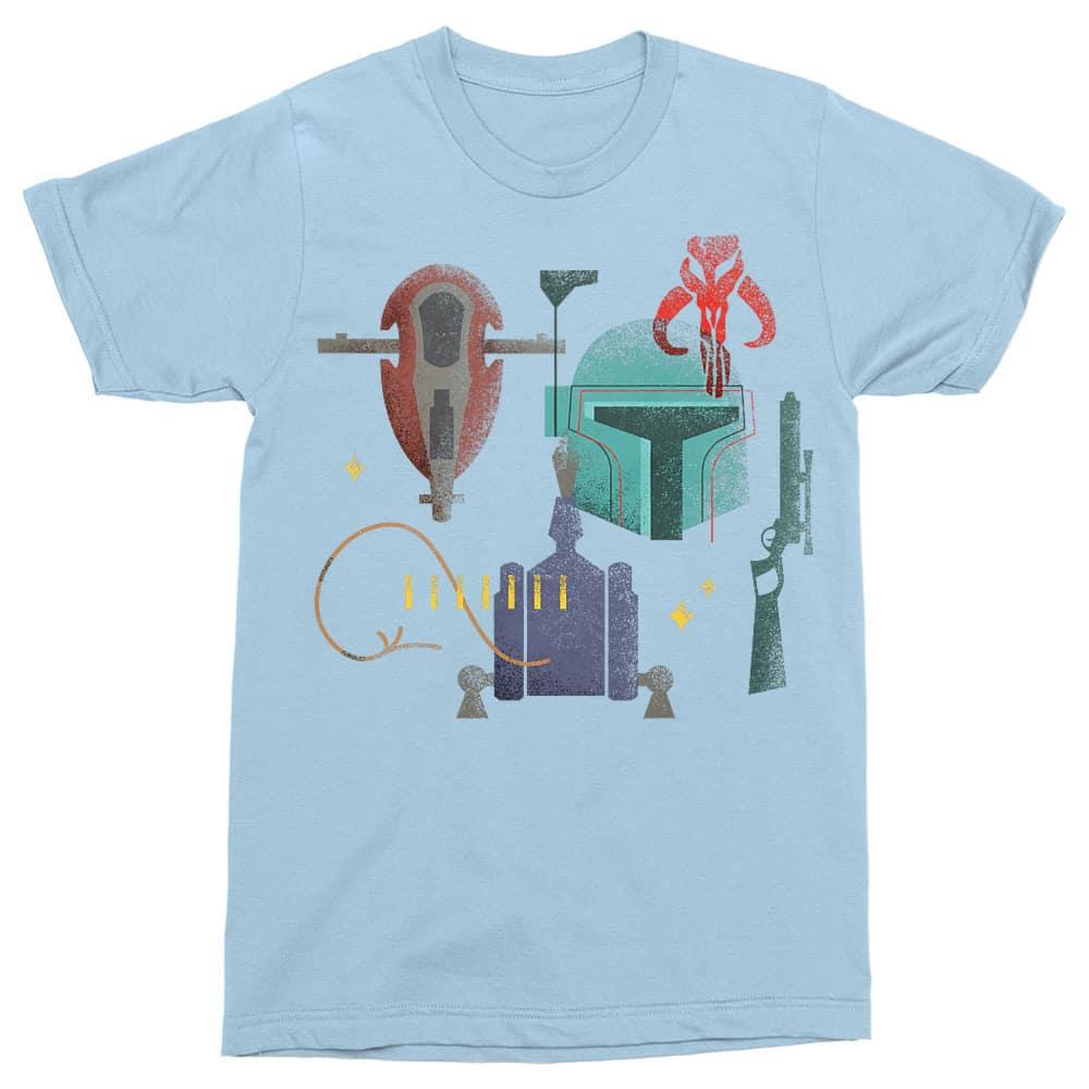 Boba Fett bounty icons Póló - Ha Star Wars rajongó ezeket a pólókat tuti imádni fogod!