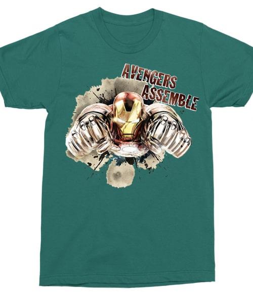 Iron Man Avengers Assemble Póló - Ha Iron Man rajongó ezeket a pólókat tuti imádni fogod!