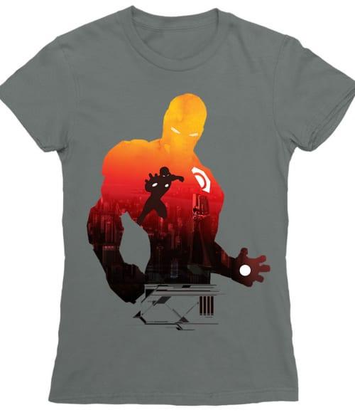 Iron Man silhouette Póló - Ha Iron Man rajongó ezeket a pólókat tuti imádni fogod!