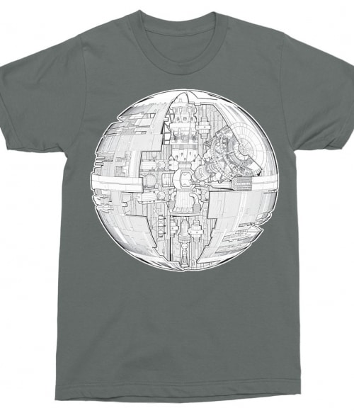 Death Star Structure Póló - Ha Star Wars rajongó ezeket a pólókat tuti imádni fogod!
