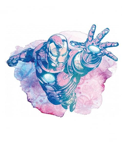 Iron Man watercolor splash Póló - Ha Iron Man rajongó ezeket a pólókat tuti imádni fogod!