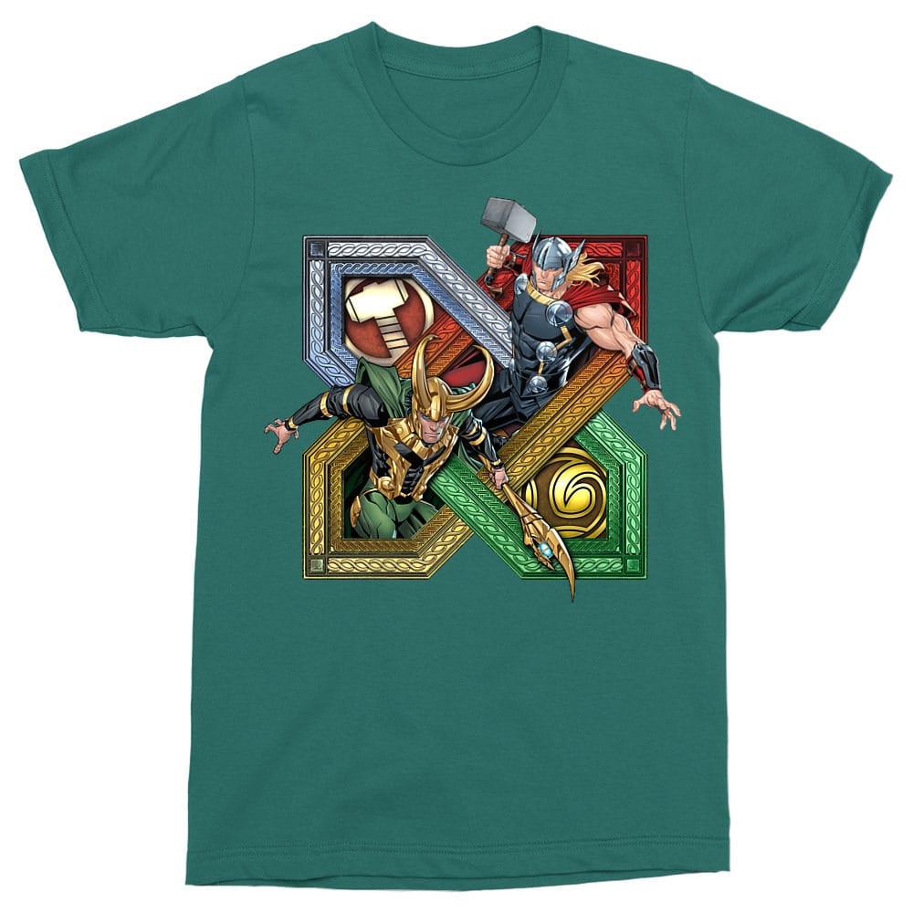 Loki and Thor badge Póló - Ha Thor rajongó ezeket a pólókat tuti imádni fogod!