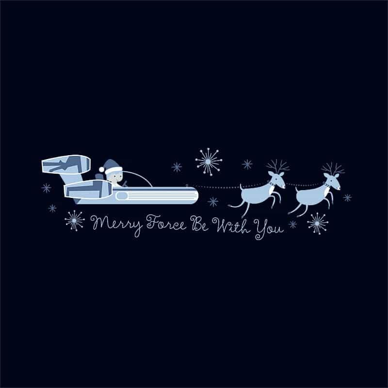 Merry force be with you Póló - Ha Star Wars rajongó ezeket a pólókat tuti imádni fogod!
