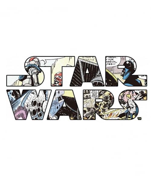 Star Wars comic logo Póló - Ha Star Wars rajongó ezeket a pólókat tuti imádni fogod!