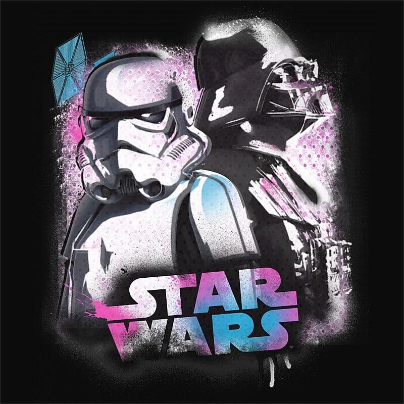 Vader graffiti Póló - Ha Star Wars rajongó ezeket a pólókat tuti imádni fogod!