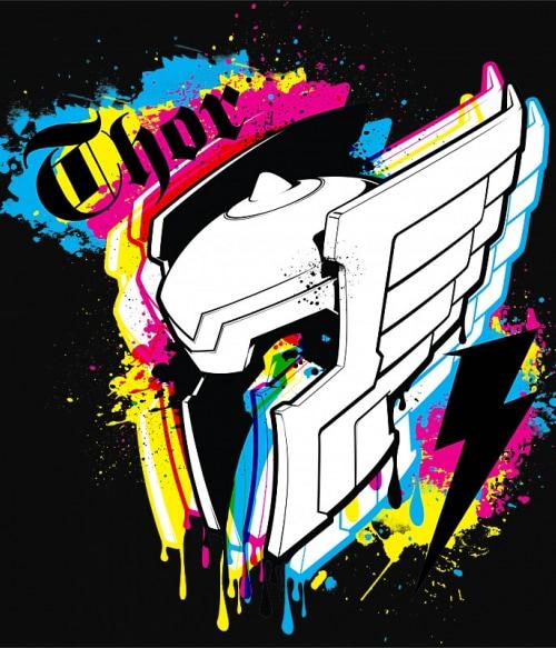 Thor color splash Póló - Ha Thor rajongó ezeket a pólókat tuti imádni fogod!
