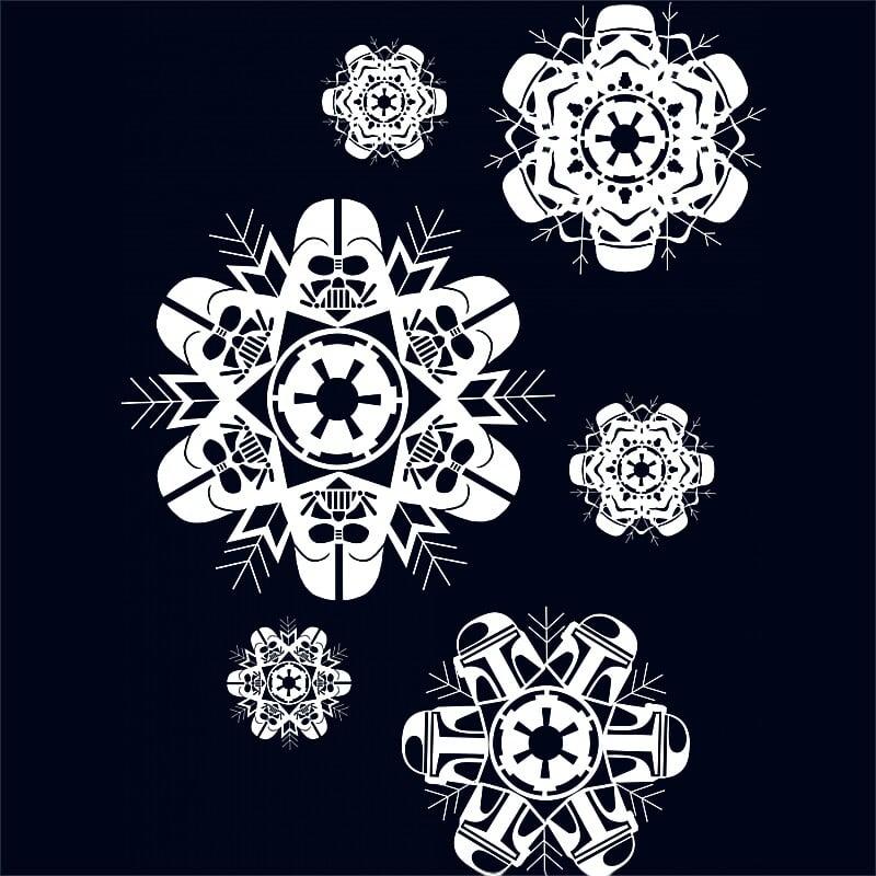 Dark Side Snowflakes Póló - Ha Star Wars rajongó ezeket a pólókat tuti imádni fogod!