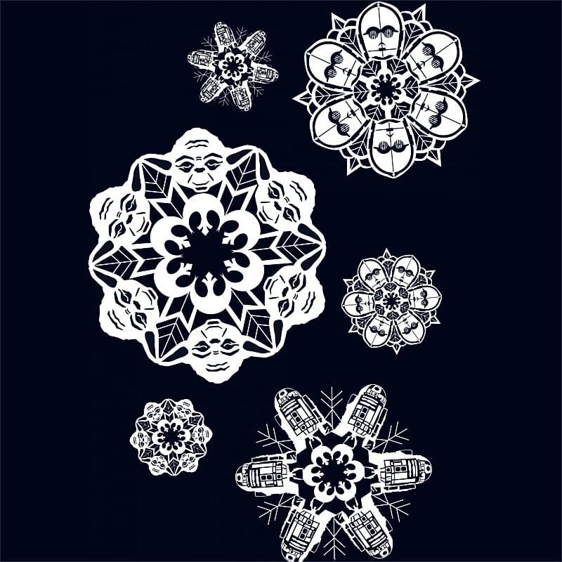Light Side Snowflakes Póló - Ha Star Wars rajongó ezeket a pólókat tuti imádni fogod!