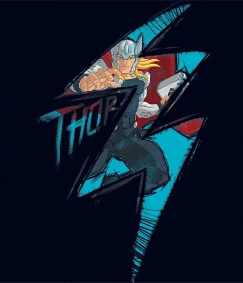 Thor lightning Póló - Ha Thor rajongó ezeket a pólókat tuti imádni fogod!