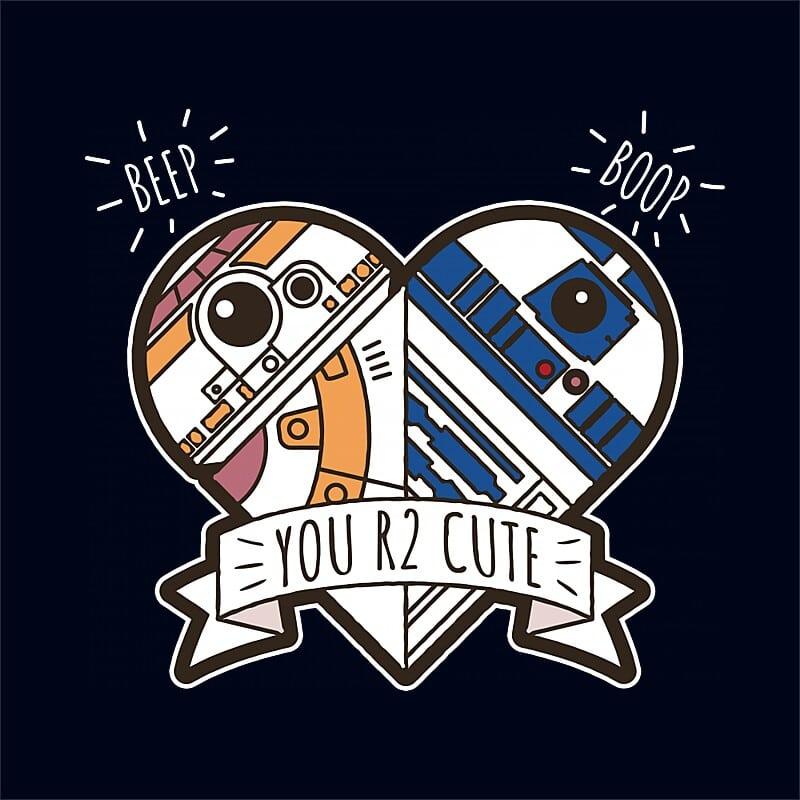 Beep Boop Heart Póló - Ha Star Wars rajongó ezeket a pólókat tuti imádni fogod!