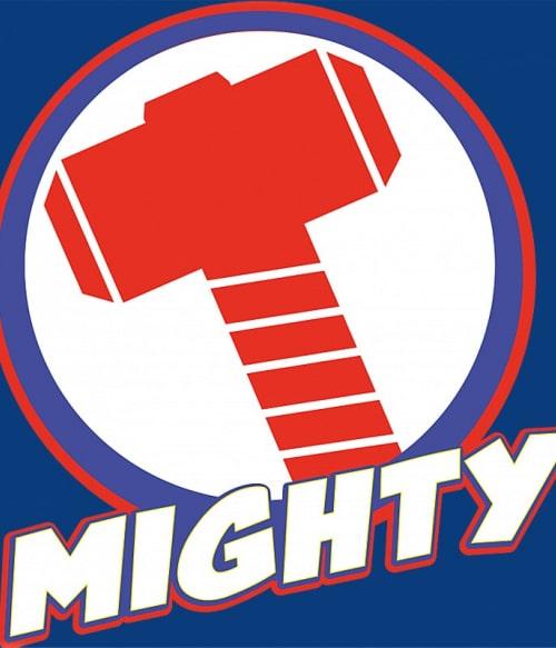 Thor mighty logo Póló - Ha Thor rajongó ezeket a pólókat tuti imádni fogod!