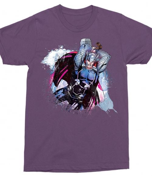 Thor watercolor splash Póló - Ha Thor rajongó ezeket a pólókat tuti imádni fogod!