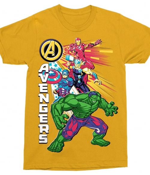 Avengers Group Póló - Ha Avengers rajongó ezeket a pólókat tuti imádni fogod!