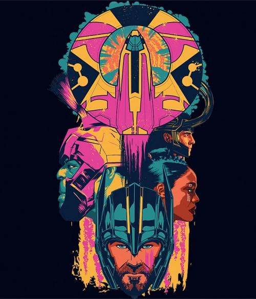Thor Ragnarök colors Póló - Ha Thor rajongó ezeket a pólókat tuti imádni fogod!