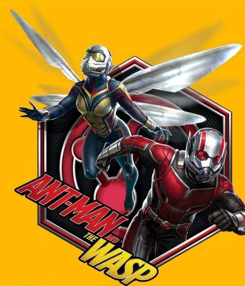 Antman - Wasp badge Póló - Ha Antman rajongó ezeket a pólókat tuti imádni fogod!