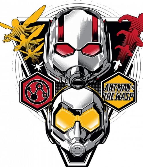 Antman - Wasp head badge Póló - Ha Antman rajongó ezeket a pólókat tuti imádni fogod!