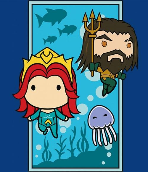 Aquaman and Mera Chibi Póló - Ha Aquaman rajongó ezeket a pólókat tuti imádni fogod!
