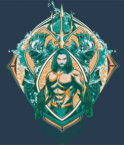 Aquaman Badge Póló - Ha Aquaman rajongó ezeket a pólókat tuti imádni fogod!