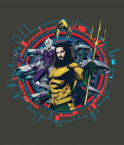 Aquaman and Ocean Master Circle Póló - Ha Aquaman rajongó ezeket a pólókat tuti imádni fogod!