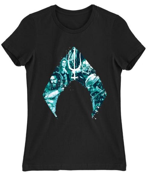 Aquaman Team Logo Póló - Ha Aquaman rajongó ezeket a pólókat tuti imádni fogod!