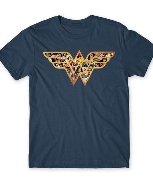 Wonder Woman Comics logo Póló - Ha Wonder Woman rajongó ezeket a pólókat tuti imádni fogod!