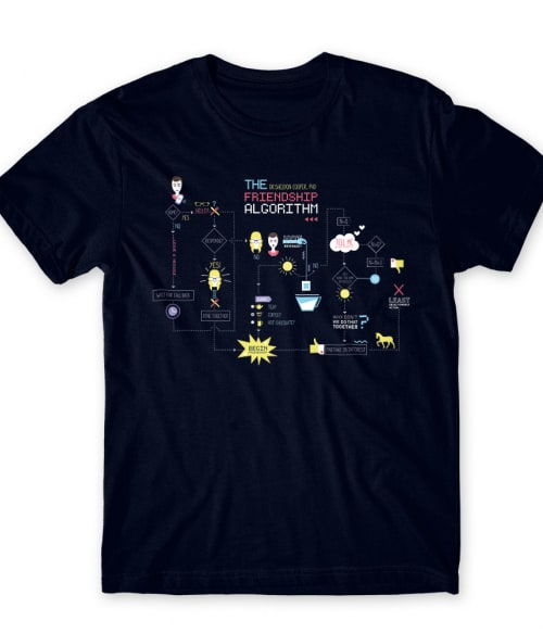 The friendship algorithm Póló - Ha The Big Bang Theory rajongó ezeket a pólókat tuti imádni fogod!