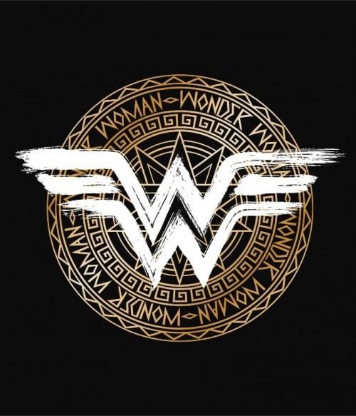 Wonder Woman Shield logo Póló - Ha Wonder Woman rajongó ezeket a pólókat tuti imádni fogod!