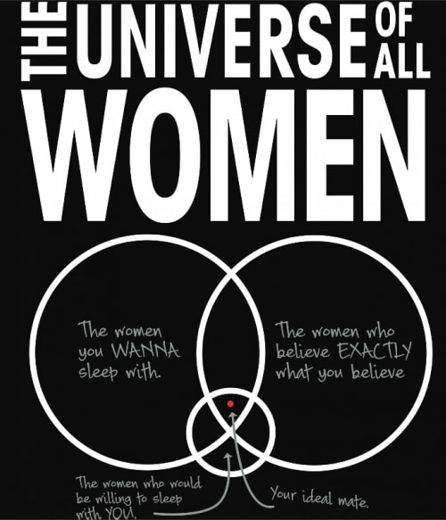 The universe of all woman Póló - Ha The Big Bang Theory rajongó ezeket a pólókat tuti imádni fogod!
