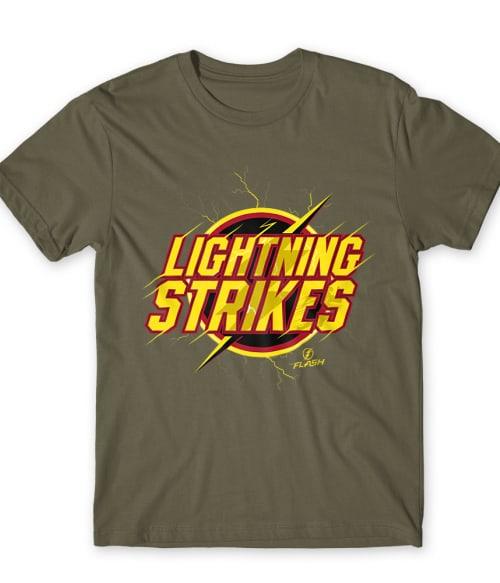 Lightning Strikes Póló - Ha Flash rajongó ezeket a pólókat tuti imádni fogod!