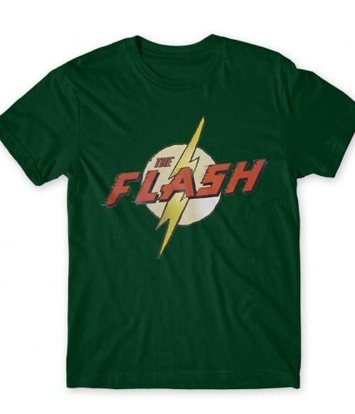 The Flash Old Logo Póló - Ha Flash rajongó ezeket a pólókat tuti imádni fogod!
