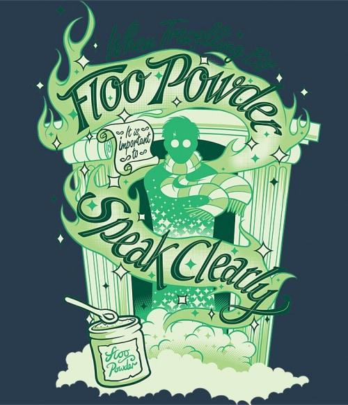 Floo powder Póló - Ha Harry Potter rajongó ezeket a pólókat tuti imádni fogod!