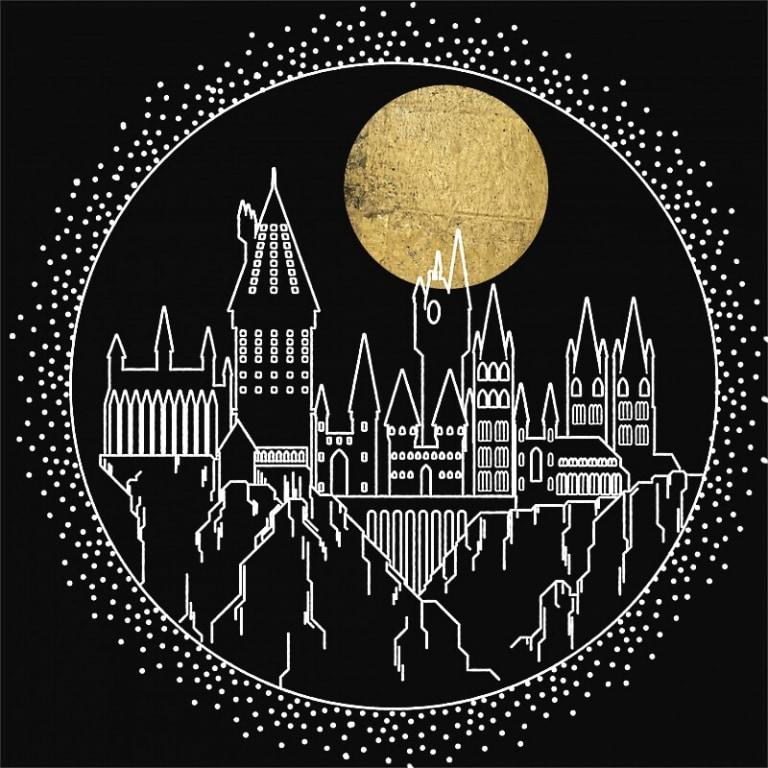 Hogwarts lineart Póló - Ha Harry Potter rajongó ezeket a pólókat tuti imádni fogod!