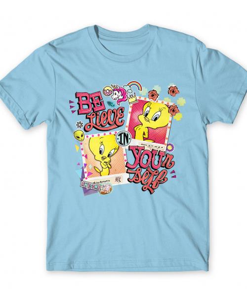Tweety Scrapbook Póló - Ha Looney Tunes rajongó ezeket a pólókat tuti imádni fogod!