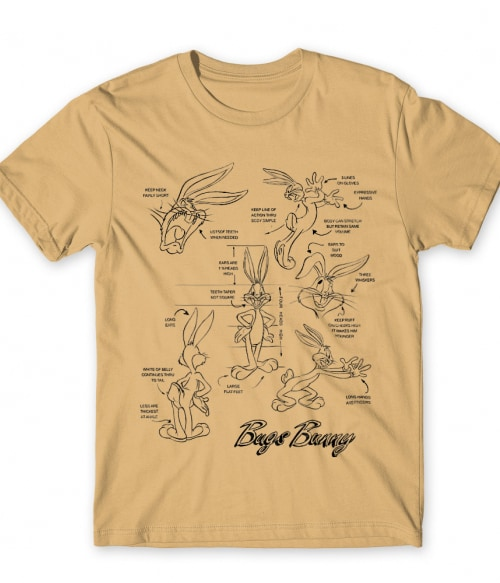 Bugs Bunny Anatomy Póló - Ha Looney Tunes rajongó ezeket a pólókat tuti imádni fogod!
