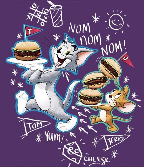 Tom and Jerry nom nom Póló - Ha Tom and Jerry rajongó ezeket a pólókat tuti imádni fogod!