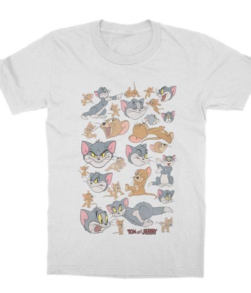 Tom and Jerry pattern Póló - Ha Tom and Jerry rajongó ezeket a pólókat tuti imádni fogod!
