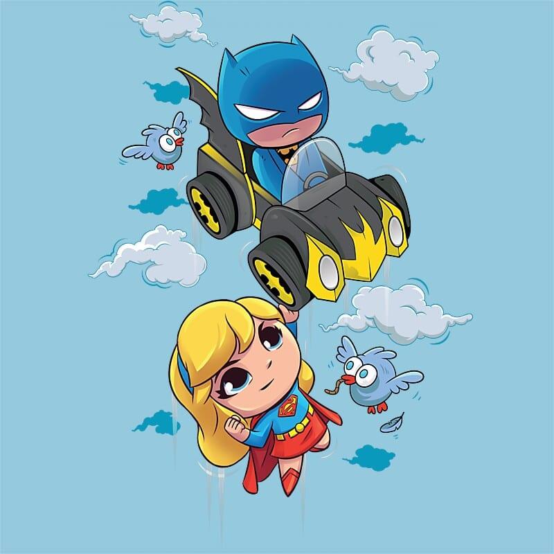26369ab617 Batman and Supergirl Póló - DC Super Friends