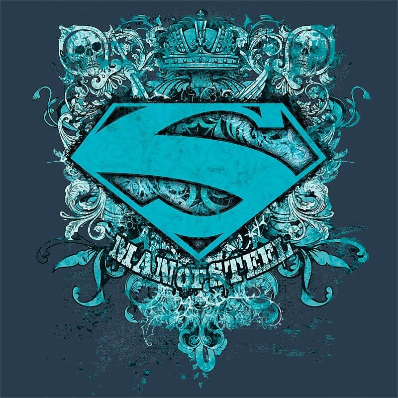 0bf3f1b781 Man of steel grunge Póló - Superman