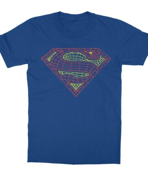 Superman web logo Póló - Ha Superman rajongó ezeket a pólókat tuti imádni fogod!