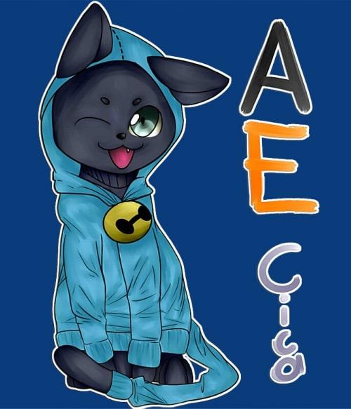 AnimEgyetem cica pólódesign Póló - AnimEgyetem